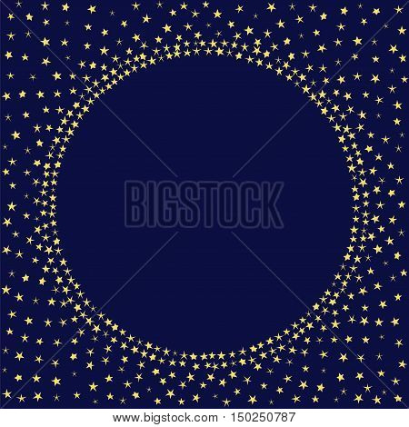 Night stars sky decoration vector card. Stars frame template.