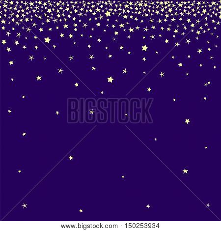 Stardust and star rain vector seamless vector. Falling stars vector illustration.