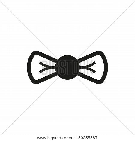simple black Bow icon isolated on white background. Elements for company print products page and web decor. Vector illustration.