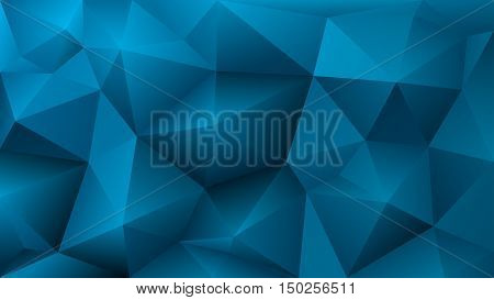Abstract Low Poly Light Blue Background Of Triangles