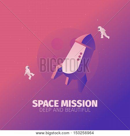 astronauts in zero gravity banner for web