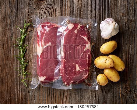 Fresh Beef Steak For Sous Vide Cooking
