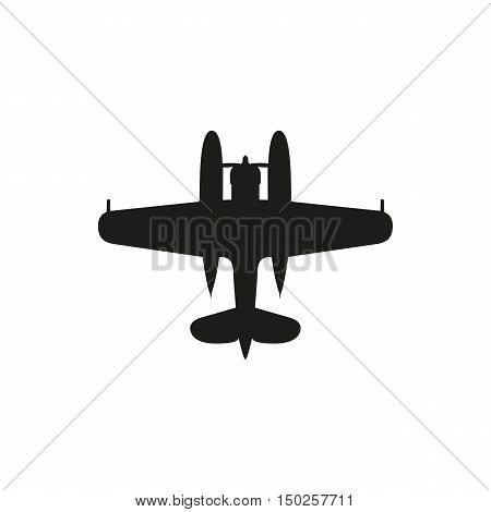 simple black Float Plane icon isolated on white background. Elements for company print products page and web decor. Vector illustration.