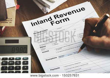 Inland Revenue Form Details Concept