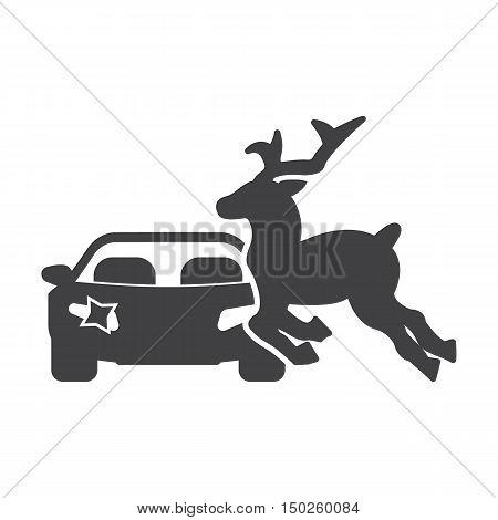 deer run black simple icons set for web design