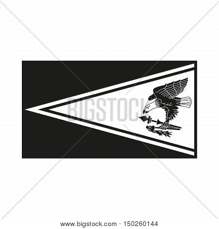 Flag of american samoa. Icon Created For Mobile Web Decor Print Products Applications. Simple black icon isolated on white background. Vector illustration.