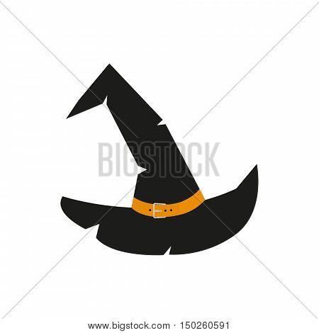 Witch Hat for Halloween. Vector illustration for your design