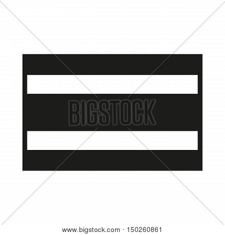 Costa Rica flag on white background Created For Mobile Web Decor Print Products Applications. Icon isolated. Vector illustration.
