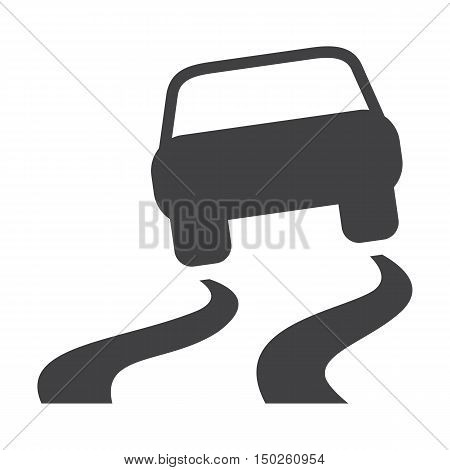 car skid black simple icons set for web design