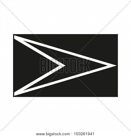 Flag of Guyana. Icon Created For Mobile Web Decor Print Products Applications. Black icon isolated on white background. Vector illustration.
