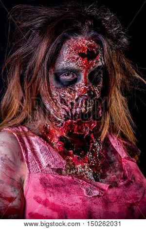Zombie Girl Portrait