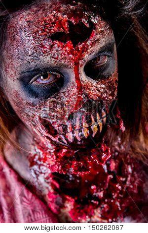Zombie Girl Closeup