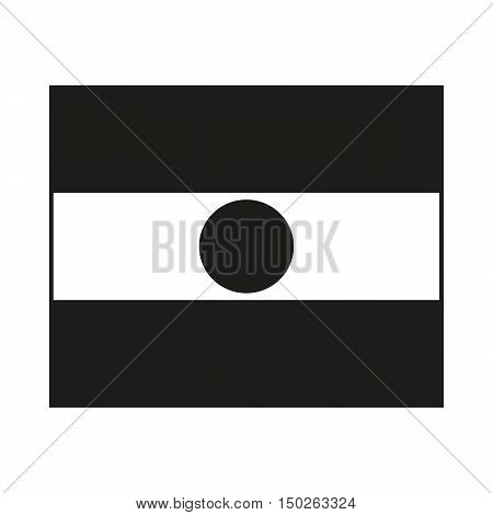 Republic of Niger flag Icon Created For Mobile Web Decor Print Products Applications. Black icon isolated on white background. Vector illustration.