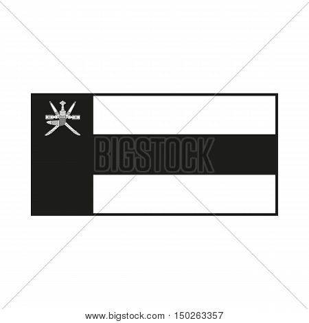 Oman flag Icon Created For Mobile Web Decor Print Products Applications. Black icon isolated on white background. Vector illustration.