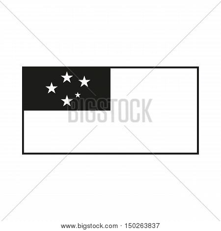 Western Samoa flag Icon Created For Mobile Web Decor Print Products Applications. Black icon isolated on white background. Vector illustration.