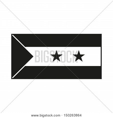Flag of Sao Tome and Principe. Icon Created For Mobile Web Decor Print Products Applications. Black icon isolated on white background. Vector illustration.