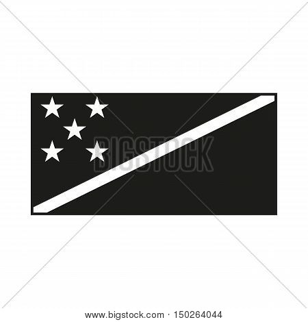 Solomon Islands Flag Icon Created For Mobile Web Decor Print Products Applications. Black icon isolated on white background. Vector illustration.