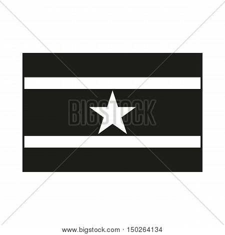 High detailed vector flag of Suriname. Icon Created For Mobile Web Decor Print Products Applications. Black icon isolated on white background. Vector illustration.