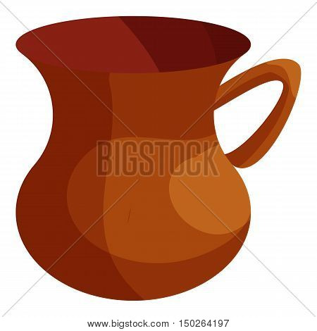 Turkish tea cup icon in cartoon style isolated on white background vector illustration