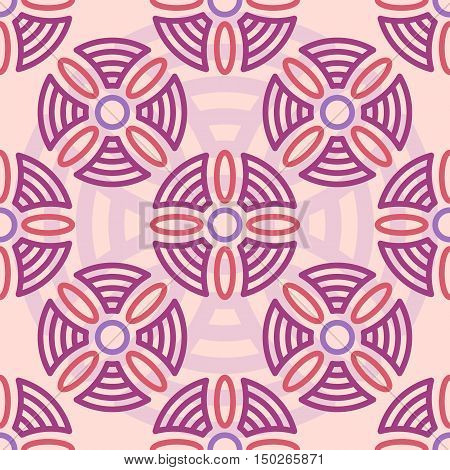 Modern seamless pink and purple pattern with simple geometric figures. Perfect for fashion textile, fabric design.