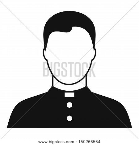 Pastor icon in simple style on a white background vector illustration