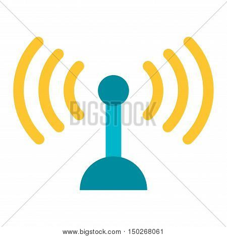 Radio antenna wireless, technology and network signal radio antenna. Wave tower radio antenna. Telecommunications radio antenna tower or mobile phone base station