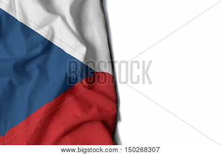 Czech Wrinkled Flag, Space For Text