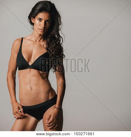 Woman In Black Underwear