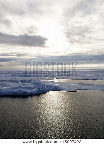 Landscape in the Arctic sea