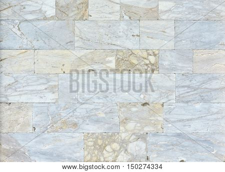 Ancient marble slab background from Pisa Tower walls