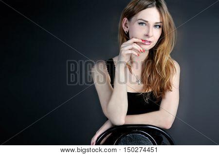 girl, photo, beautiful girl, people, cute girl, girl in black, girls Photo