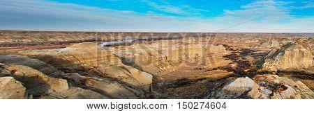 Dinasaur Provincial Park in the Alberta Badlands Canada