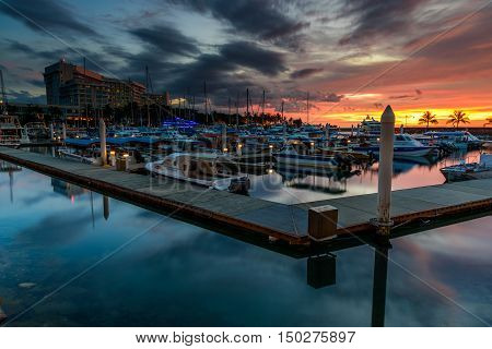 Kota Kinabalu,Sabah-Oct 3rd, 2016:Sutera Harbour Resort a hotel located at Kota Kinabalu,the 5 Star luxury hotel accommodation of the city style The Pacific Sutera & resort style The Magellan Sutera