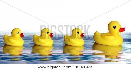 Rubber ducky family