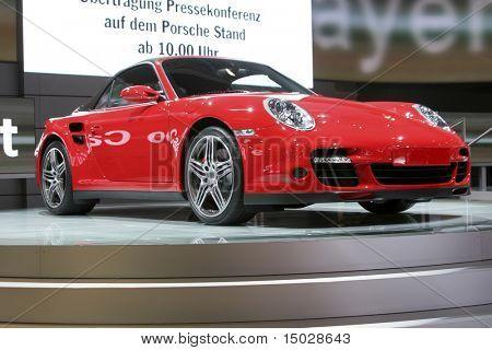 Porsche 911 Turbo cabrio at the IAA in Germany
