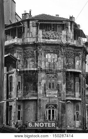 Istanbul Turkey-April 30 2013. An old building with beautiful exterior in the Sultanahmet district of Istanbul Turkey