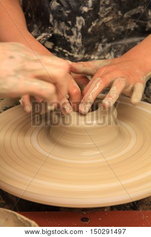 Working On Spinning Wheel
