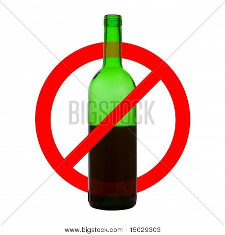 Prohibiting Symbol Of Alcohol Drinking