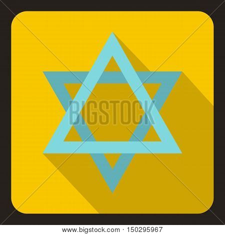 Star of David icon in flat style on a white background vector illustration