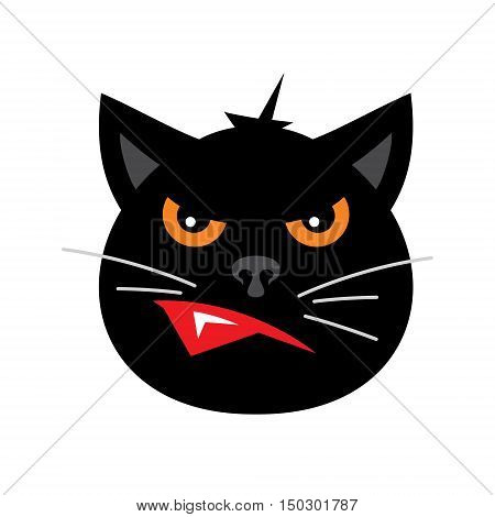 Kitten head. Isolated on a White Background