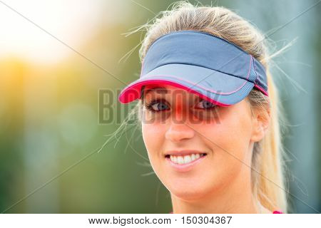 Beautiful Sporty Blonde Girl