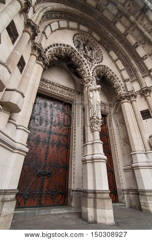Doors of New York City cathedral St. John the Divine New York