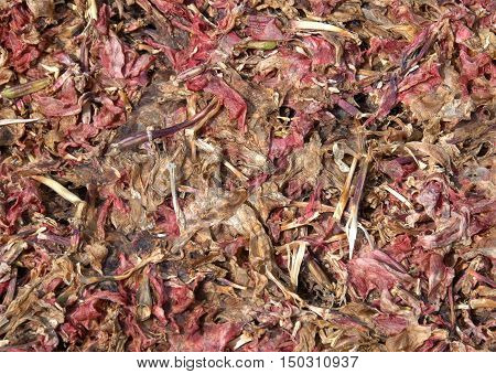 abstract background of potpourri in red, pink and brown colours