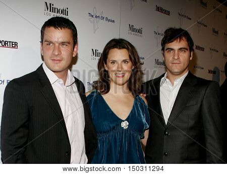 Balthazar Getty, Jennifer Howell and Joaquin Phoenix at the Art of Elysium & Russell Young 'fame, shame and the realm of possibility' held at the Minotti in West Hollywood, USA on November 30, 2005.
