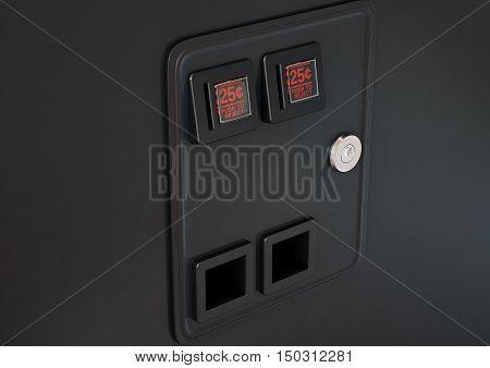 Arcade Machine Coin Slot Panel