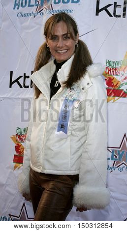 Diane Farr at the 2005 Hollywood Christmas Parade held at the Hollywood Roosevelt Hotel in Hollywood, USA on November 27, 2005.