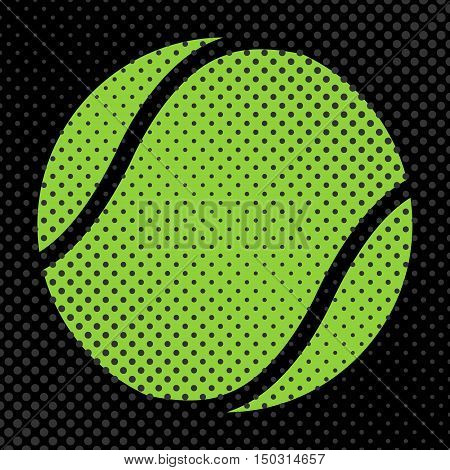 Sports background Ball for the game of tennis halftone effect and space for your text vector illustration.