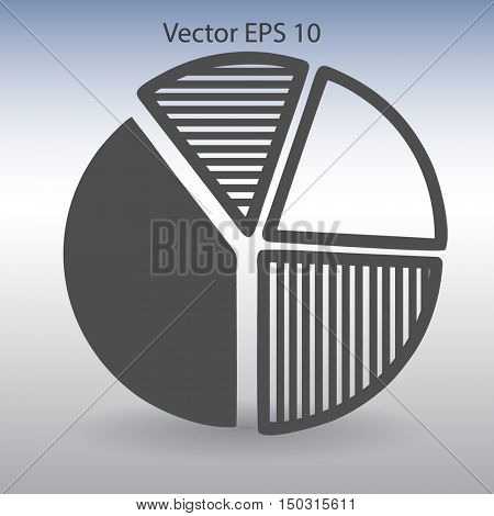 The diagram - a visual aid vector illustration