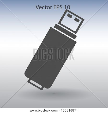 usb flash drive for computer vector icon