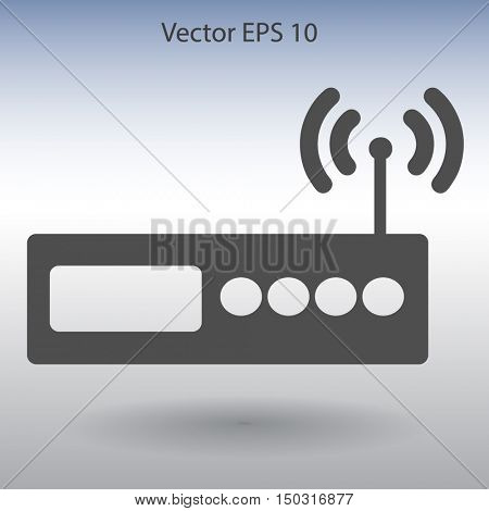 Wi-fi  router vector picture